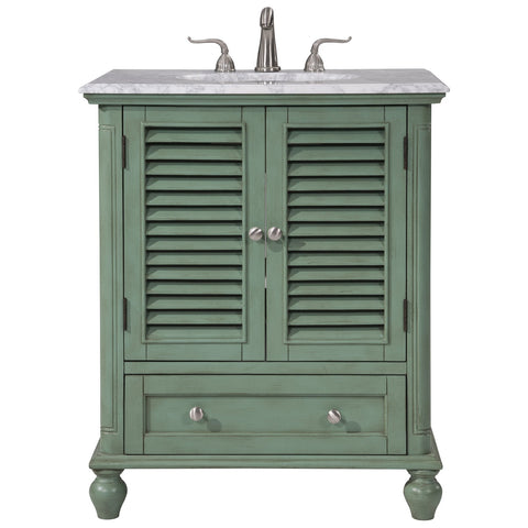 Rhodes 30-Inch Single Bathroom Vanity Set in Vintage Mint