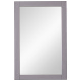 Saturn 22-Inch Contemporary Mirror in Light Grey