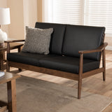 Baxton Studio Venza 2-Seater Loveseat