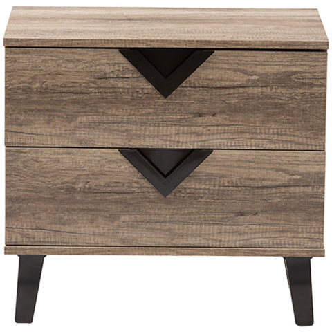 Swanson 2-Drawer Nightstand in Light Brown