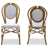 Baxton Studio Gauthier Bamboo Stackable Bistro Dining Chair Set of 2