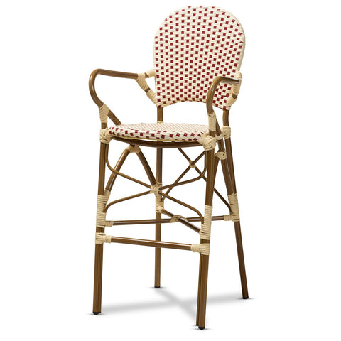 Baxton Studio Marguerite French Bamboo Stackable Bistro Bar Stool