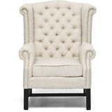 Baxton Studio Sussex Beige Linen Club Chair