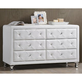 Baxton Studio Luminescence Faux Leather Upholstered Dresser