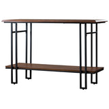 Baxton Studio Newcastle Wood and Metal Console Table