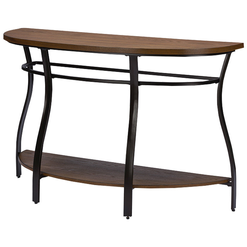 Baxton Studio Newcastle Wood, Metal Console Table