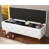 Baxton Studio Seine Leather Contemporary Storage Ottoman