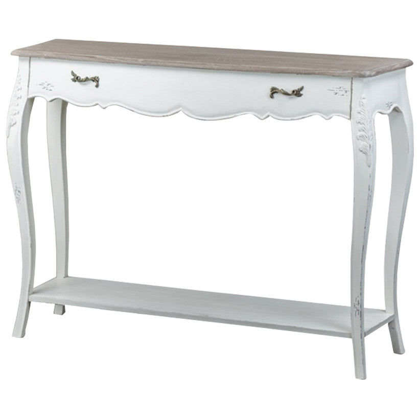 Baxton Studio Bourbonnais Wood Traditional French Console Table