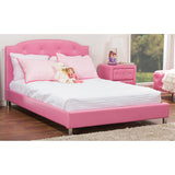 Baxton Studio Canterbury Pink Leather Contemporary Full-Size Bed