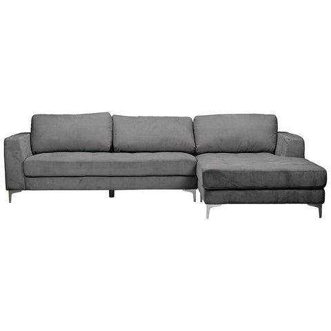 Baxton Studio Agnew Contemporary Microfiber Right Facing Sectional Sofa