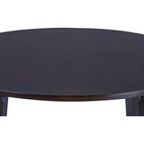 Baxton Studio Debbie Mid-Century Dark Brown Wood Round Dining Table