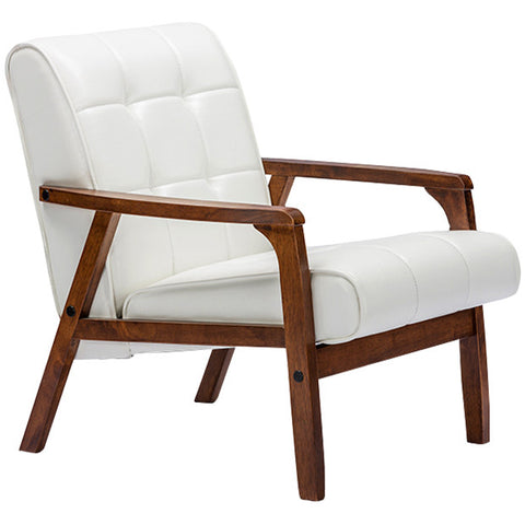 Baxton Studio Baxton Studio Mid-Century Masterpieces Club Chair - White
