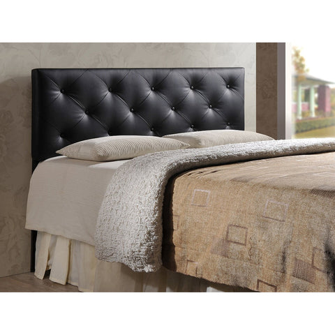 Baltimore Modern and Contemporary King Faux Leather Upholstered Headboard