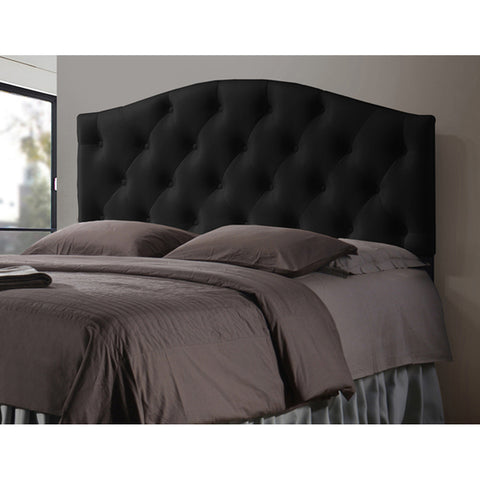 Myra Faux Leather Upholstered Button-Tufted Scalloped Headboard