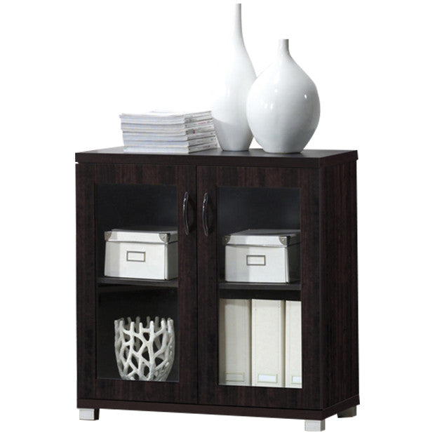Delicieux Zentra Modern And Contemporary Dark Brown Sideboard Storage Cabinet With Glass  Doors