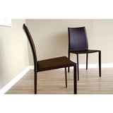 Rockford Taupe Bonded Leather Upholstered Dining Chair, Set of 2
