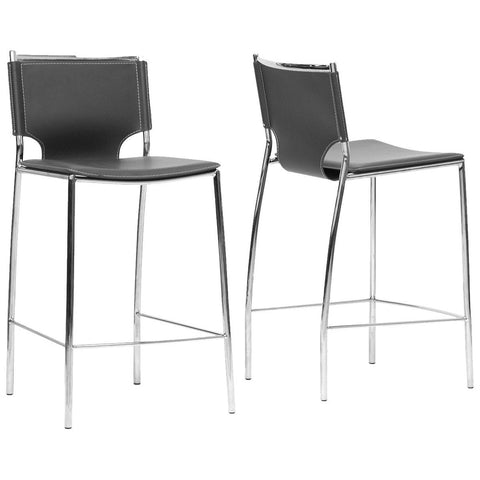 Montclare Leather Modern Counter Stool, Set of 2