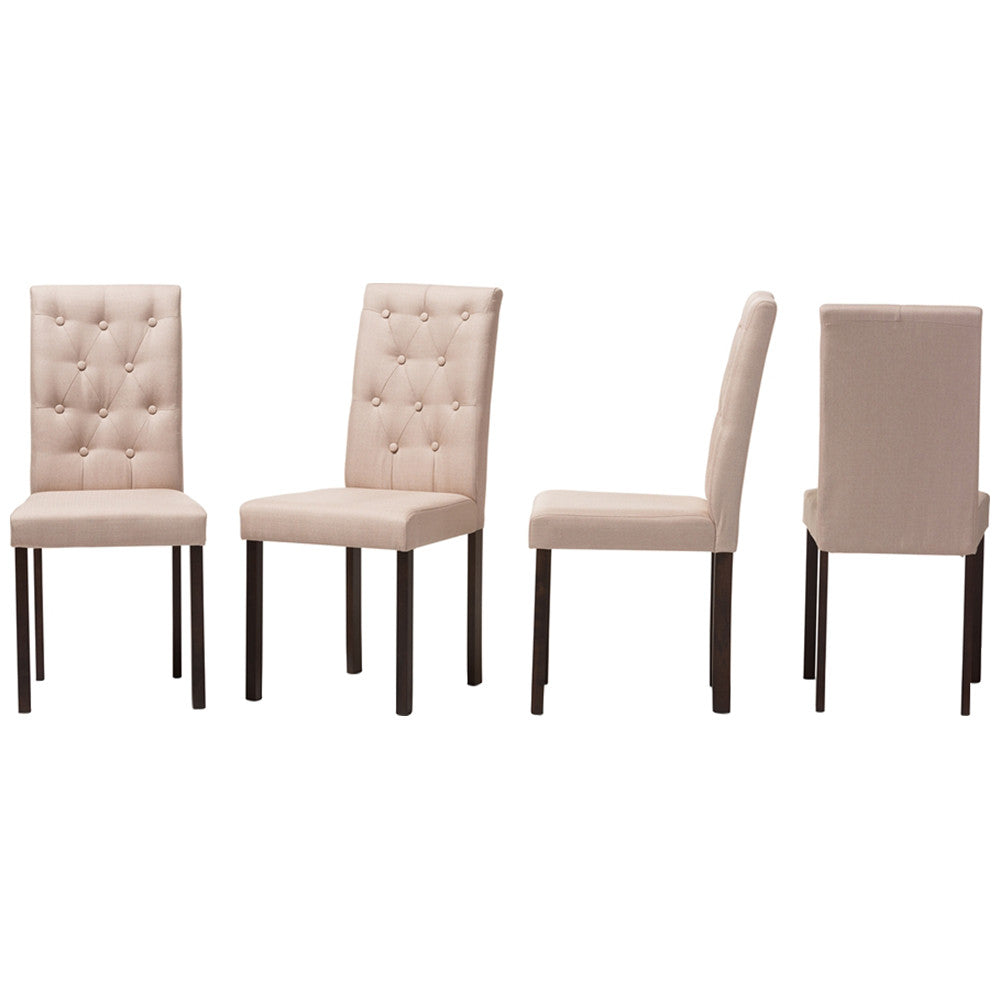 Beige Dining Chairs Transitional Dining Chairs Tufted Dining