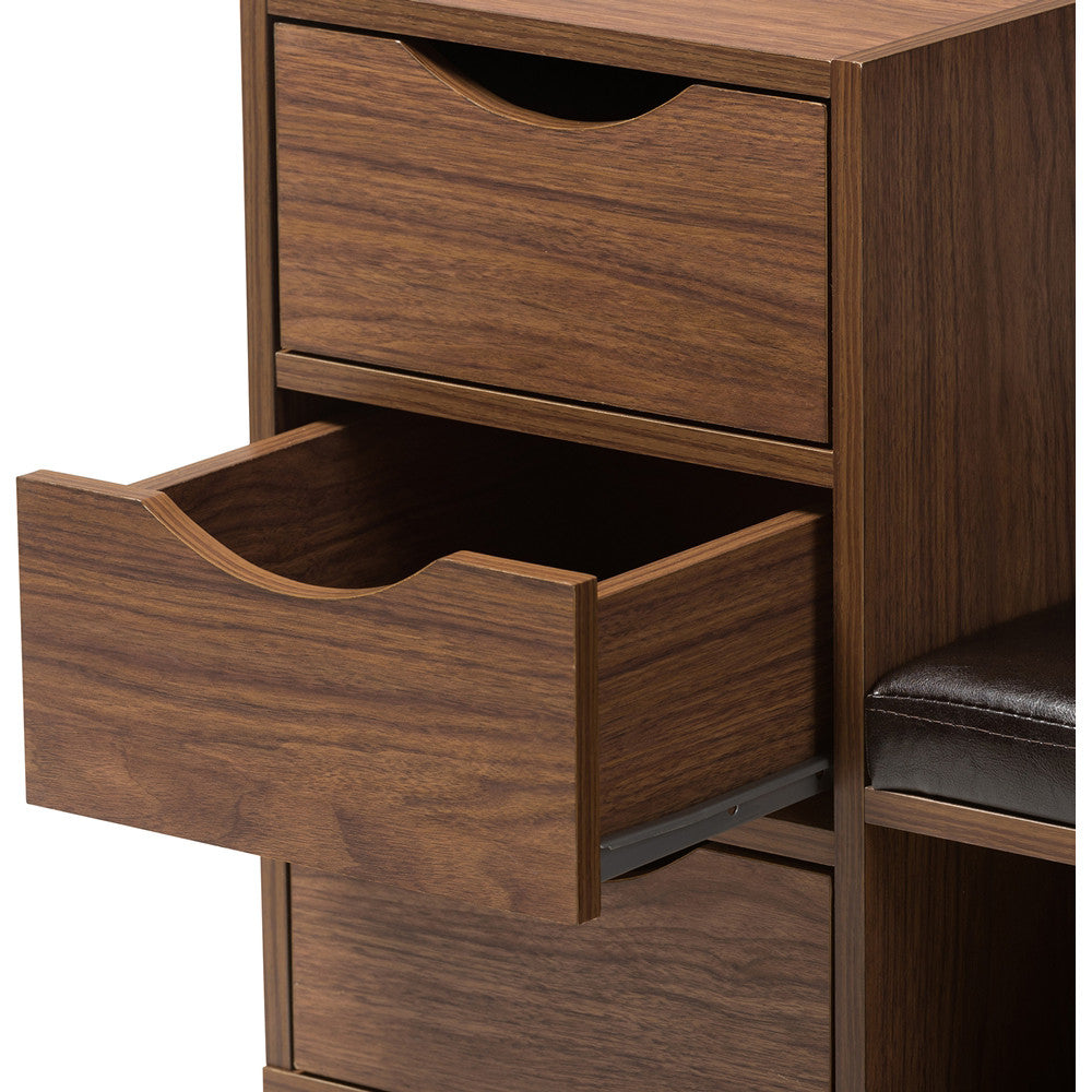 Peachy Baxton Studio Arielle 3 Drawer Shoe And 2 Shelf Storage Bench In Walnut Brown Ocoug Best Dining Table And Chair Ideas Images Ocougorg