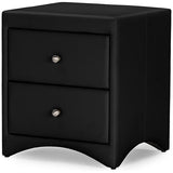 Baxton Studio Dorian Faux Leather Upholstered Modern Nightstand