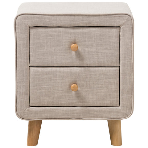 Baxton Studio Jonesy 2-Drawer Nightstand