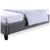 Baxton Studio Hillary and Grey Fabric Upholstered Platform Base Bed Frame