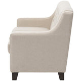 Arcadia Button-Tufted 3-Seater Sofa