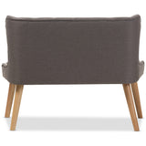 Baxton Studio Melody 2-Seater Loveseat in Gray