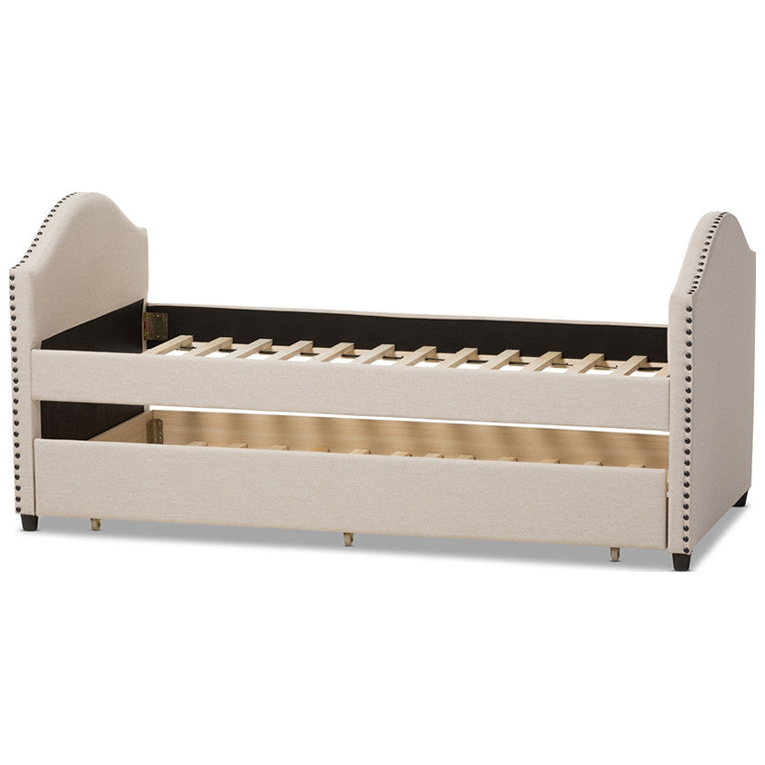 Baxton Studio Alessia Daybed with Guest Trundle Bed