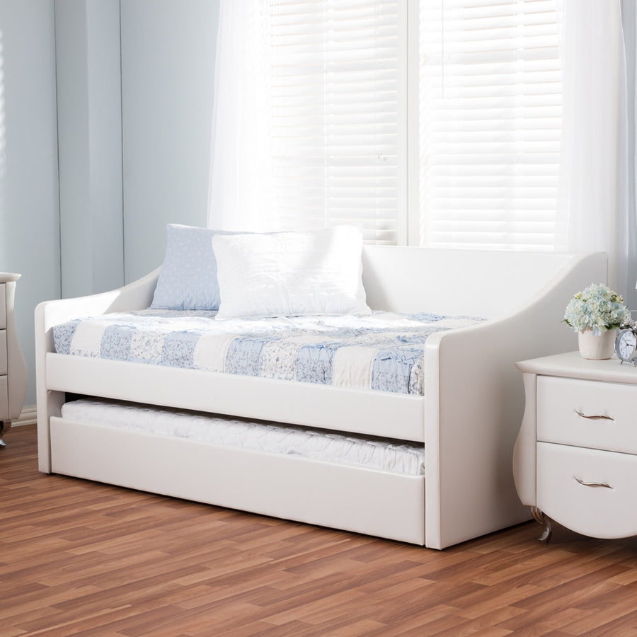 Baxton Studio Barnstorm Daybed with Guest Trundle Bed