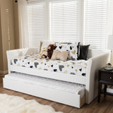 Baxton Studio Camino Daybed with Guest Trundle Bed
