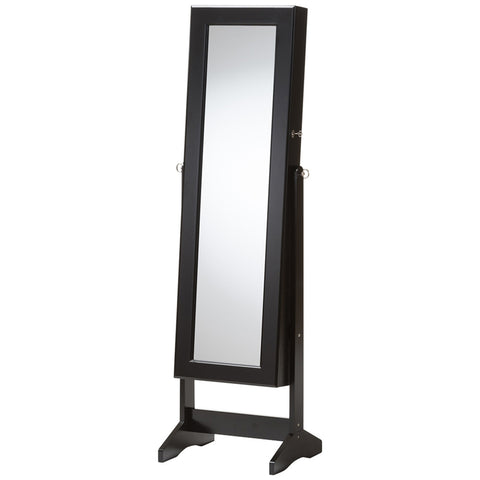 Alena Free Standing Cheval Mirror Jewelry Armoire