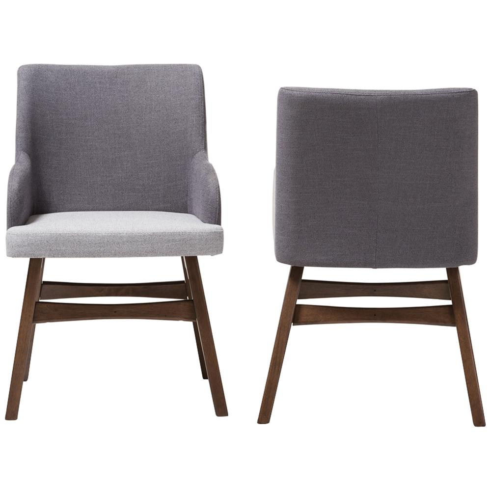 Monte Armchair in Two-Tone Gray, Set of 2