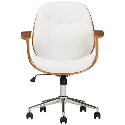 Rathburn White and Walnut Office Chair