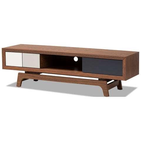 Baxton Studio Svante Multicolor Wood 3-Drawer TV Stand