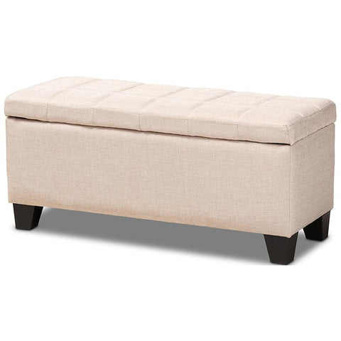 Baxton Studio Fera Fabric Upholstered Storage Ottoman