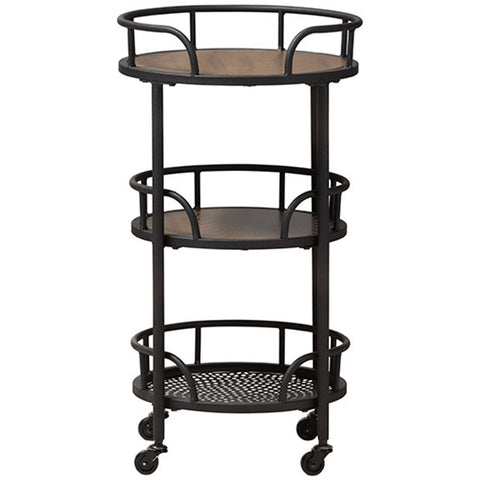 Bristol Metal and Wood Mobile Serving Cart