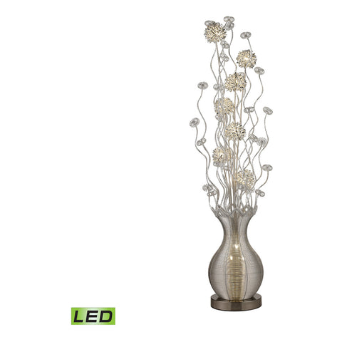 Silver 10-Light Floor Lamp