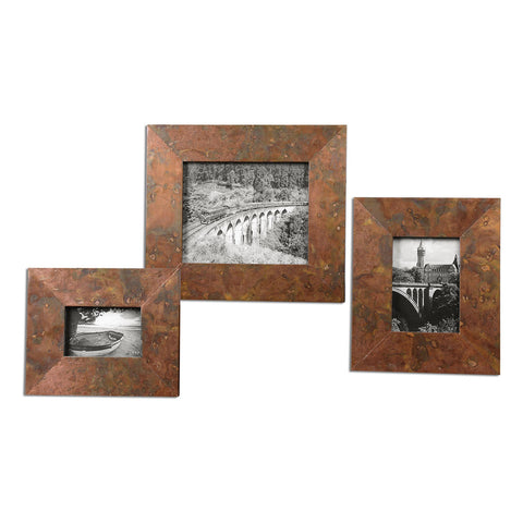 Ambrosia Copper Photo Frames, Set of 3