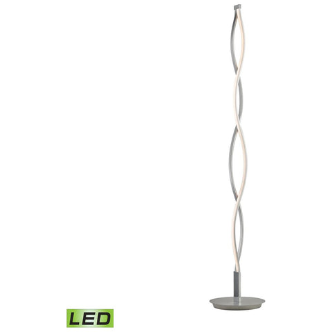 Twist 21-Watt LED Floor Lamp in Aluminum