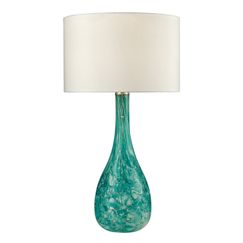 1-Light Table Lamp in Seafoam Green