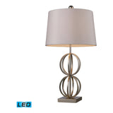 Donora 1-Light Silver Leaf Table Lamp