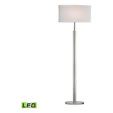 Port Elizabeth 1-Light Satin Nickel Floor Lamp