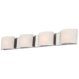 Pandora 4-Light White Opal Glass Vanity
