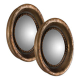 Tropea Rounds Wood Mirror, Set of 2