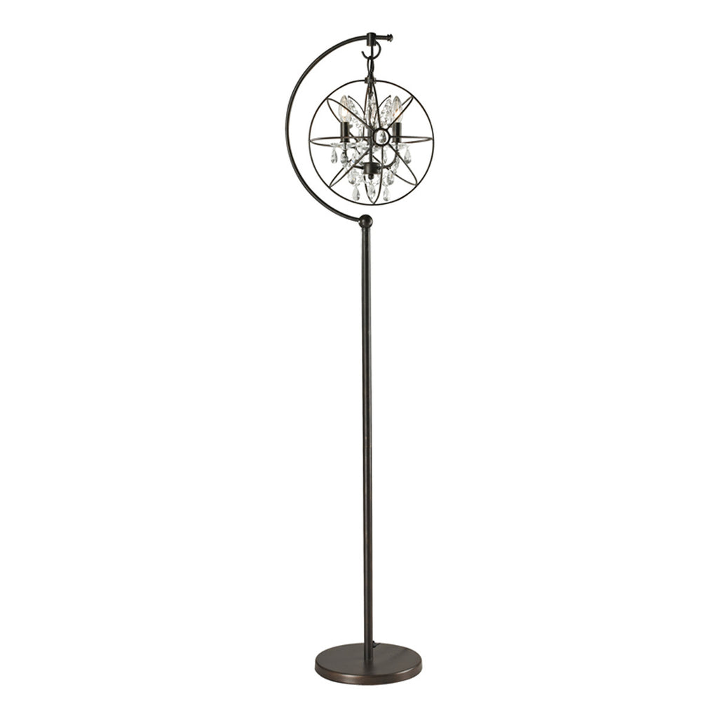 Restoration Globe 3-Light Floor Lamp in Oil Rubbed Bronze