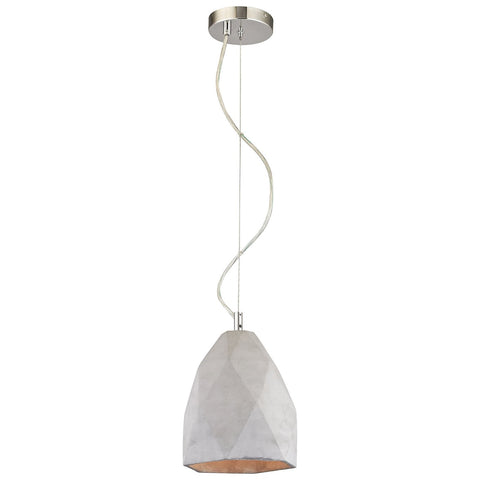 Tsar 1-Light Mini Pendant in Polished Concrete