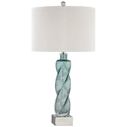 Springtide Table Lamp in Aqua
