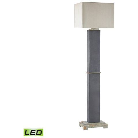 Elliot Bay Outdoor LED Floor Lamp in Grey Slate