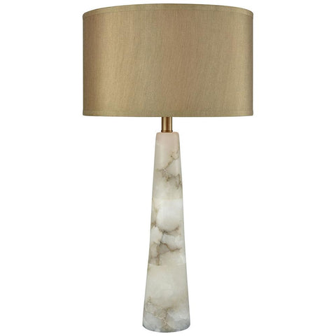 Champagne Float Table Lamp in Alabaster